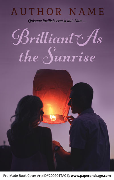 Pre-Made Book Cover ID#200201TA01 (Brilliant As the Sunrise)