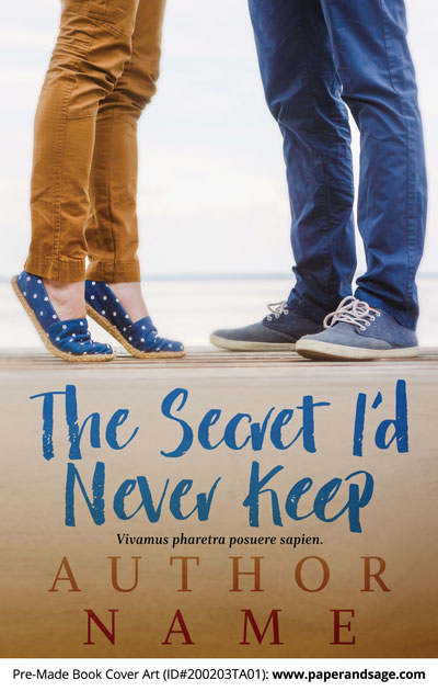 Pre-Made Book Cover ID#200203TA01 (The Secret I'd Never Keep)