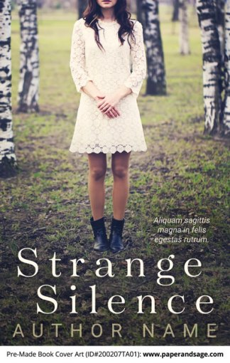 Pre-Made Book Cover ID#200207TA01 (Strange Silence)