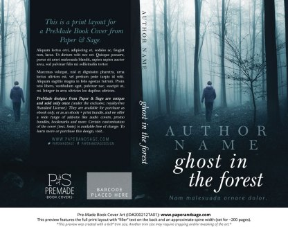 Pre-Made Book Cover ID#200212TA01 (Ghost in the Forest)