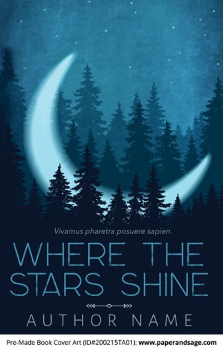 Pre-Made Book Cover ID#200215TA01 (Where the Stars Shine)