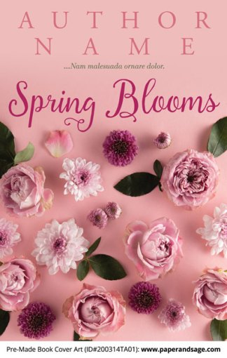 Pre-Made Book Cover ID#200314TA01 (Spring Blooms)