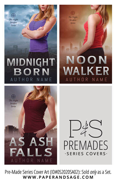 PreMade Series Covers ID#052020SA02 (The Night Striders Series, Only Sold as a Set)