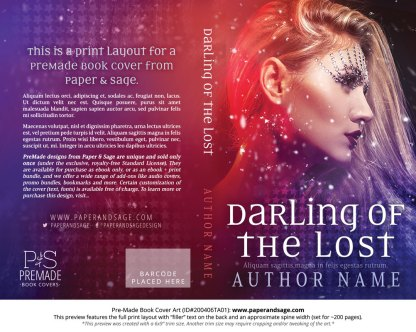 Pre-Made Book Cover ID#200406TA01 (Darling of the Lost)