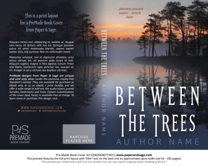 Pre-Made Book Cover ID#200407TA01 (Between the Trees)
