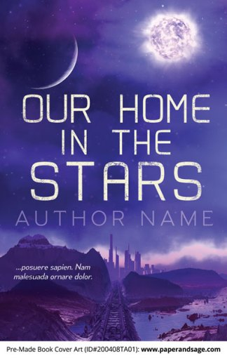 Pre-Made Book Cover ID#200408TA01 (Our Home in the Stars)