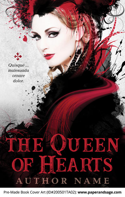 Pre-Made Book Cover ID#200501TA02 (The Queen of Hearts)