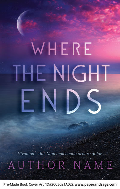 Pre-Made Book Cover ID#200502TA02 (Where The Night Ends)