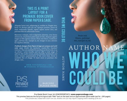 Pre-Made Book Cover ID#200508TA01 (Who We Could Be)