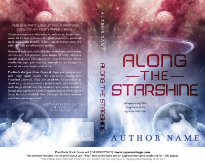 Pre-Made Book Cover ID#200607TA01 (Along the Starshine)