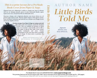 Pre-Made Book Cover ID#200702TA01 (Little Birds Told Me)