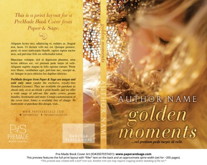 Pre-Made Book Cover ID#200703TA01 (Golden Moments)