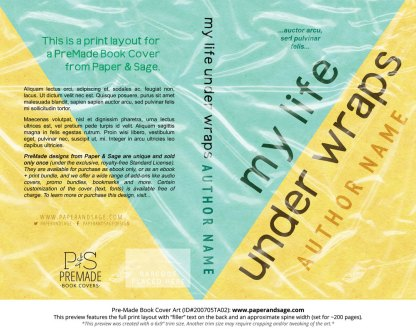 Pre-Made Book Cover ID#200705TA02 (My Life Under Wraps)