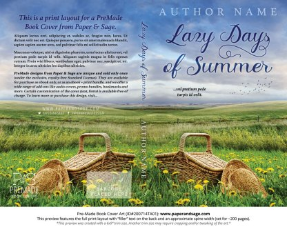 Pre-Made Book Cover ID#200714TA01 (Lazy Days of Summer)