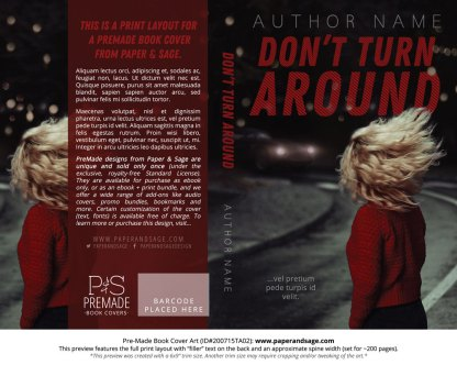 Pre-Made Book Cover ID#200715TA02 (Don't Turn Around)
