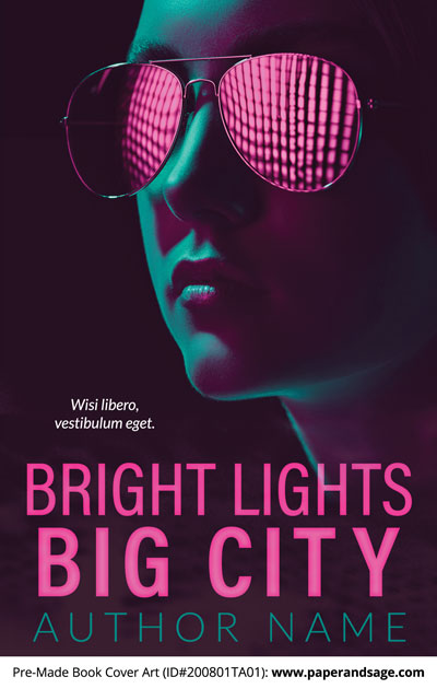 Pre-Made Book Cover ID#200801TA01 (Bright Lights Big City)