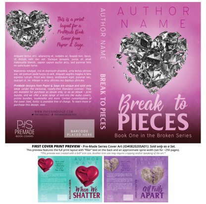 PreMade Series Covers ID#082020SA01 (Broken Series, Only Sold as a Set)