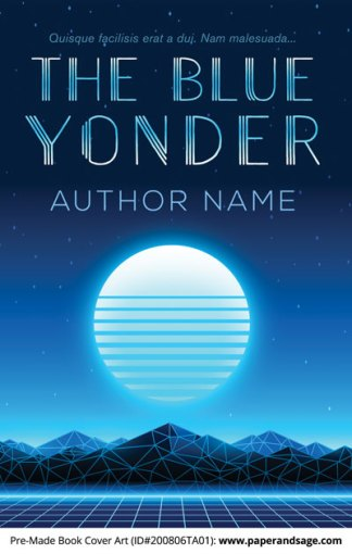 Pre-Made Book Cover ID#200806TA01 (The Blue Yonder)