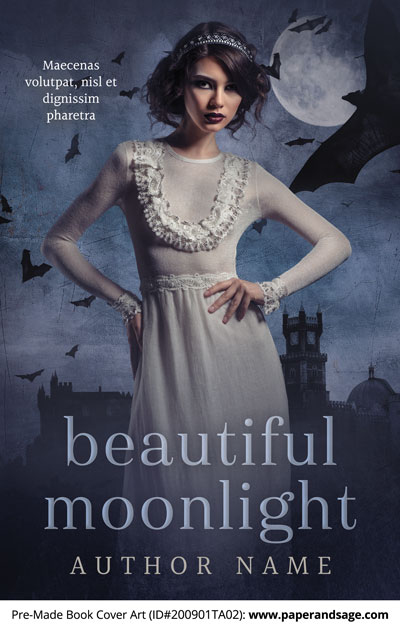 Pre-Made Book Cover ID#200901TA02 (Beautiful Moonlight)