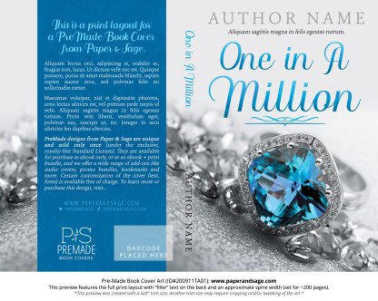 Pre-Made Book Cover ID#200911TA01 (One in a Million)