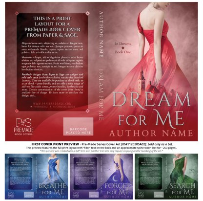 PreMade Series Covers ID#112020SA02 (In Dreams Series, Only Sold as a Set)