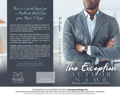 Pre-Made Book Cover ID#201101TA01 (The Exception)
