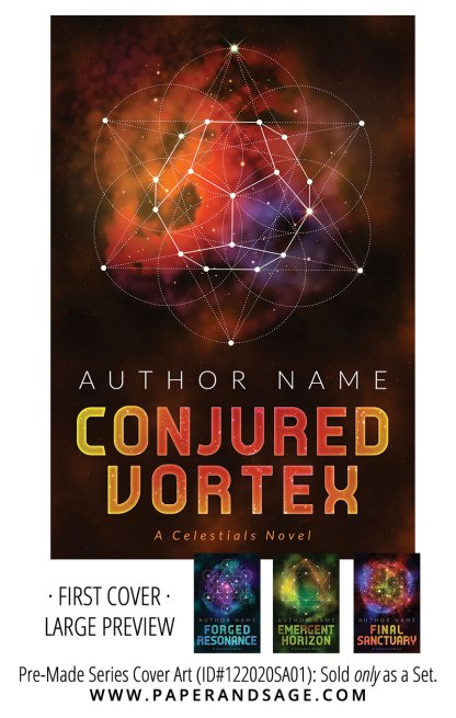 PreMade Series Covers ID#122020SA01 (Celestials Series, Only Sold as a Set)