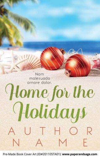 Pre-Made Book Cover ID#201105TA01 (Home for the Holidays)