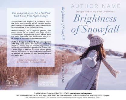 Pre-Made Book Cover ID#201111TA01 (Brightness of Snowfall)