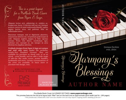 Pre-Made Book Cover ID#201201TA02 (Harmony's Blessings)