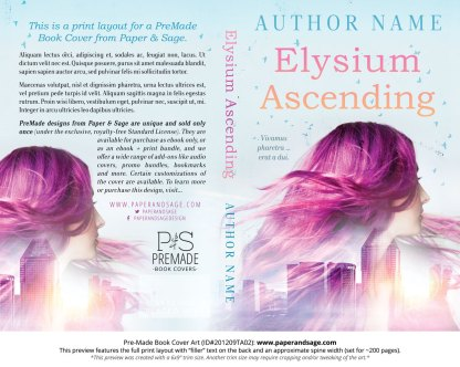 Pre-Made Book Cover ID#201209TA02 (Elysium Ascending)