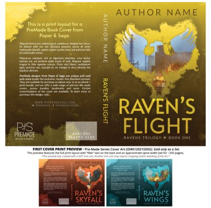 PreMade Series Covers ID#012021SD02 (Ravens Series, Only Sold as a Set)