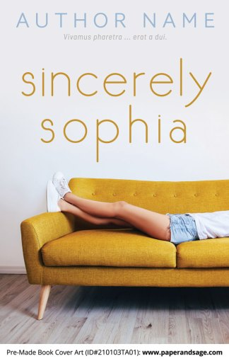 Pre-Made Book Cover ID#210103TA01 (Sincerely Sophia)