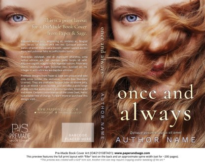 Pre-Made Book Cover ID#210108TA01 (Once and Always)