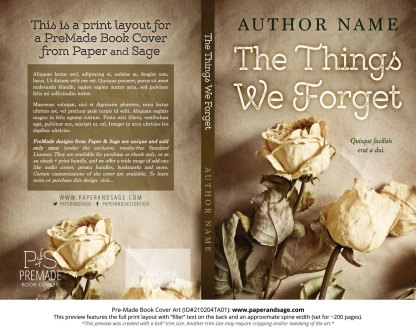 Pre-Made Book Cover ID#210204TA01 (The Things We Forget)