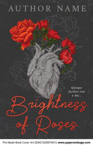 Pre-Made Book Cover ID#210206TA01 (Brightness of Roses)