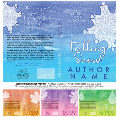 PreMade Series Covers ID#032021SD01 (Naturally Series, Only Sold as a Set)