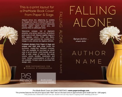 Pre-Made Book Cover ID#210305TA01 (Falling Alone)