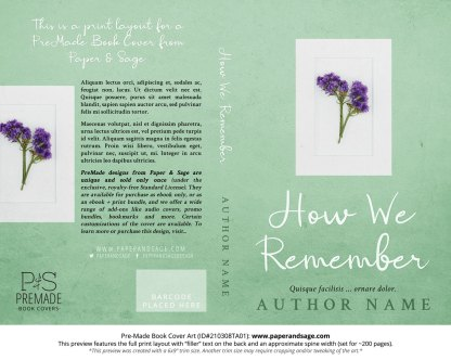 Pre-Made Book Cover ID#210308TA01 (How We Remember)