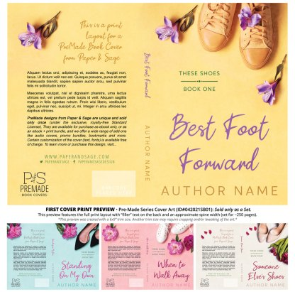 PreMade Series Covers ID#042021SB01 (These Shoes Series, Only Sold as a Set)