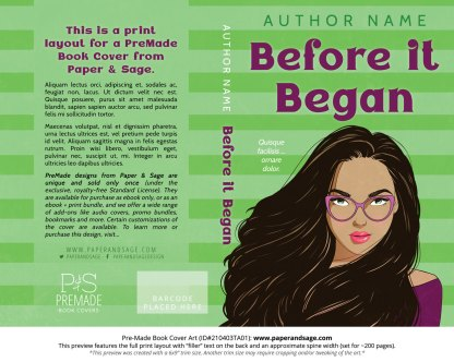 Pre-Made Book Cover ID#210403TA01 (Before it Began)