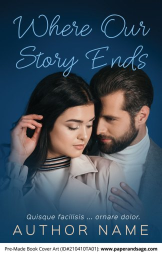 Pre-Made Book Cover ID#210410TA01 (Where Our Story Ends)