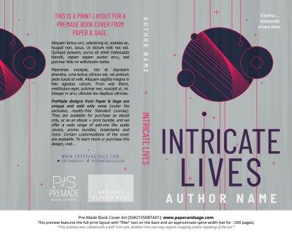 Pre-Made Book Cover ID#210508TA01 (Intricate Lives)