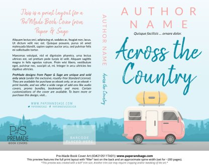 Pre-Made Book Cover ID#210511TA01 (Across the Country)