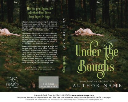 PreMade Book Cover ID#210611TA01 (Under the Boughs)