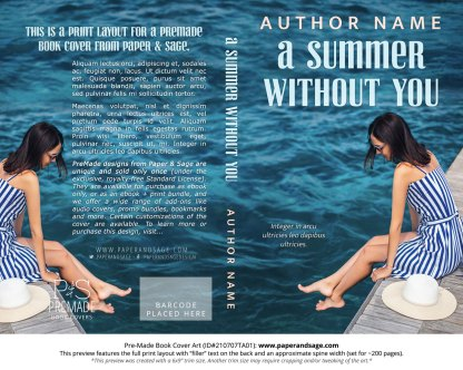 PreMade Book Cover ID#210707TA01 (A Summer Without You)