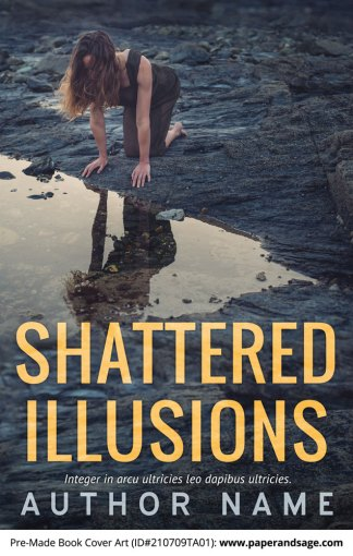 PreMade Book Cover ID#210709TA01 (Shattered Illusions)