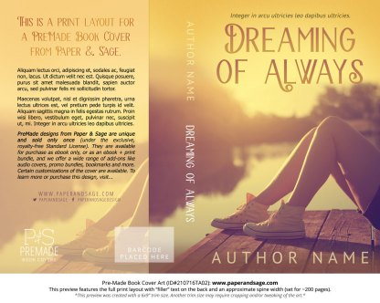 PreMade Book Cover ID#210716TA02 (Dreaming of Always)