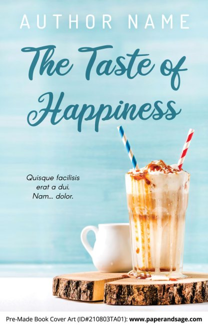 PreMade Book Cover ID#210803TA01 (The Taste of Happiness)
