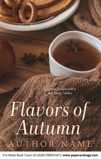 PreMade Book Cover ID#210806TA01 (Flavors of Autumn)